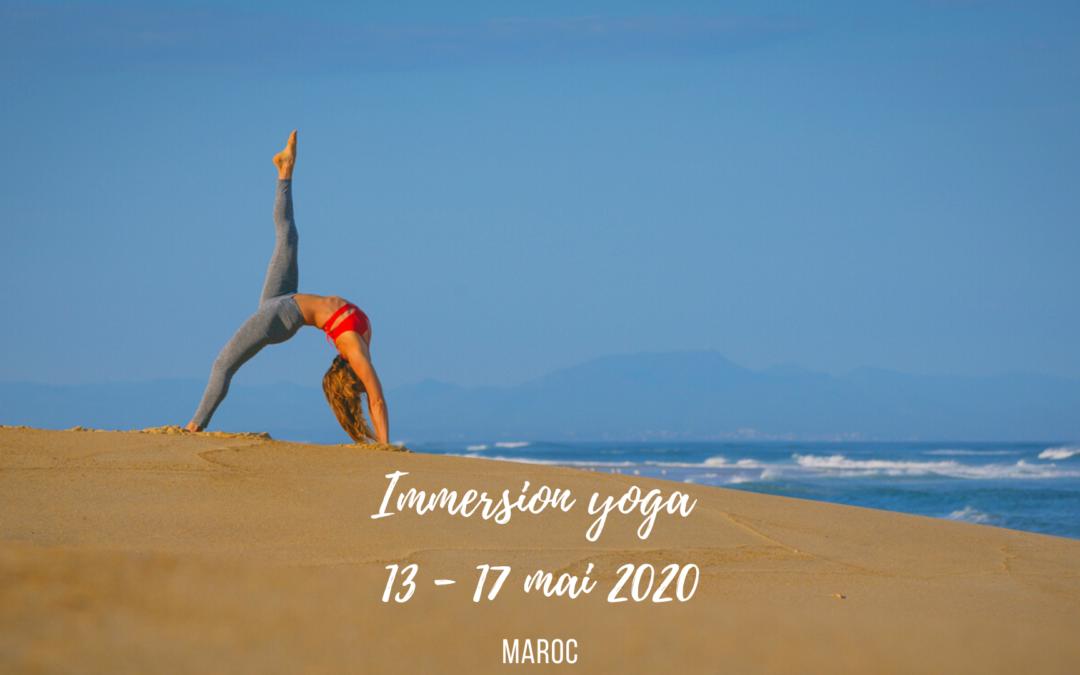 Immersion yoga au Maroc : 13 au 17 mai 2020